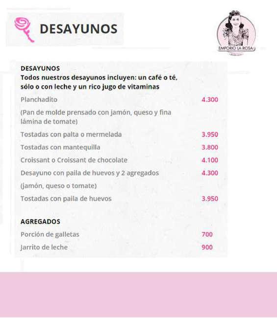 Ofertas de Emporio La Rosa, Carta 2016