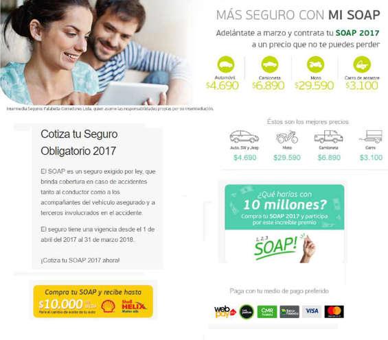 Ofertas de Banco Falabella, CONTRATA SOAP