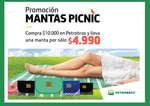 Ofertas de Petrobras, promo mantas picnic