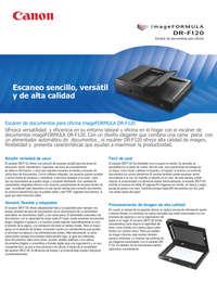 Scanner DR F120 - Portátil y Escritorio