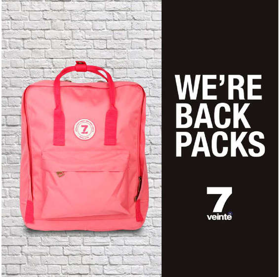 Ofertas de 7 Veinte, we're backpacks