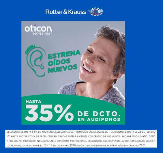 Ofertas de Rotter y Krauss, Estrena oídos nuevos