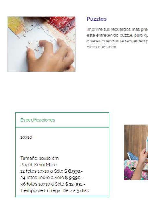 Ofertas de Mi Foto, Catálogo de Precios