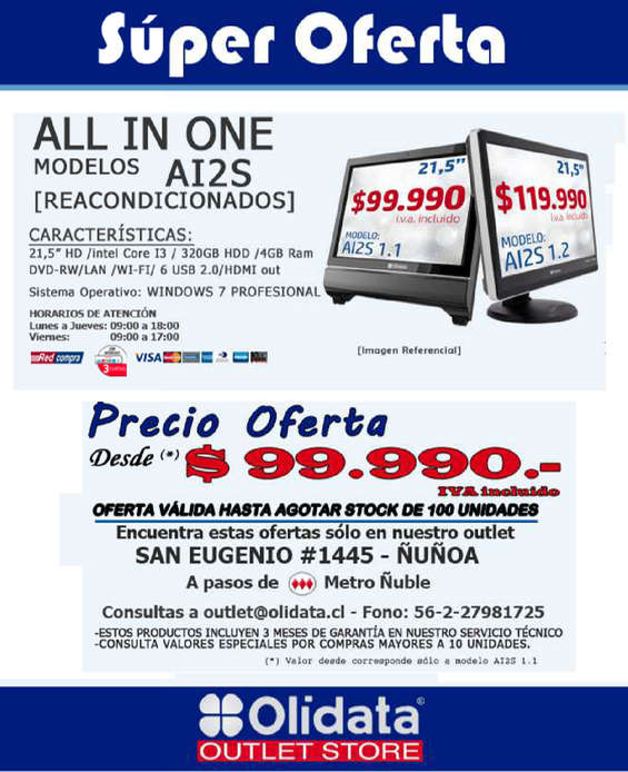Ofertas de Olidata, all in olidata