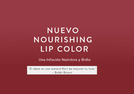 Ofertas de Bobbi Brown, nourishing lip colour