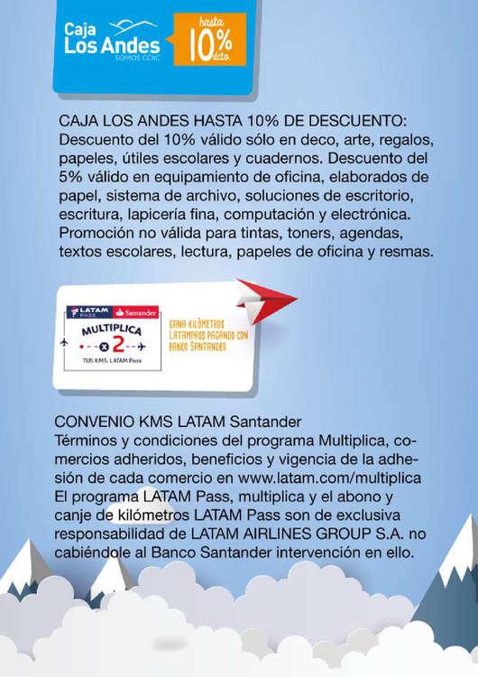 Ofertas de Caja Los Andes, descuento lápiz lópez