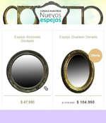 Ofertas de Bazar Deco, Nuevos espejos