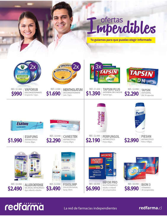 Ofertas de Farmacias Redfarma, ofertas medicamentos