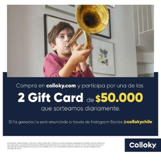 Ofertas de Colloky, Promo Gift card