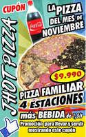 Ofertas de Jhot Pizza, La pizza del mes