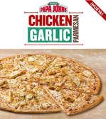 Ofertas de Papa John's, Nueva Chicken Garlic