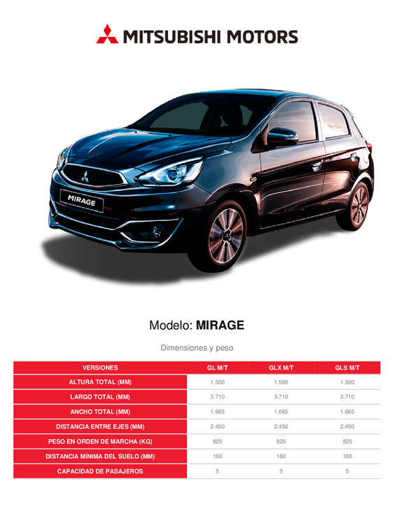 Ofertas de Mitsubishi, Mirage