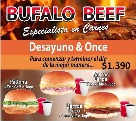Ofertas de Bufalo Beef, desayuno & once