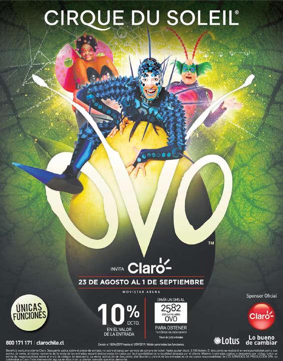 Ofertas de Claro, Cirque Du Soleil: OVO