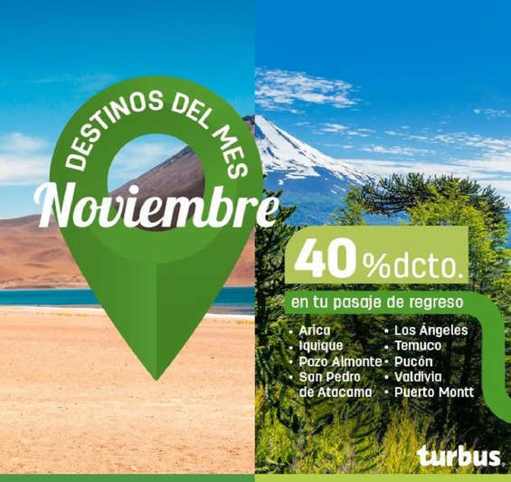 Ofertas de Tur Bus, Viaja en noviembre