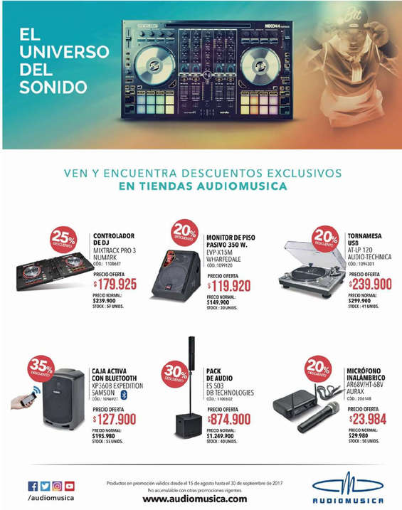 Ofertas de Audiomusica, Descuentos exclusivos
