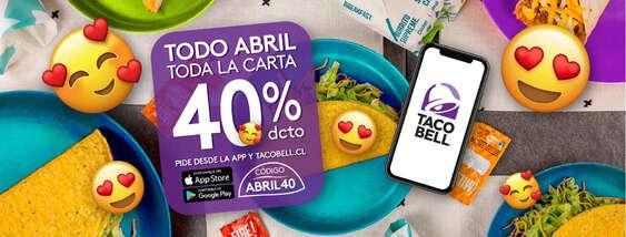 Ofertas de Taco Bell, Hasta 40% de descuento
